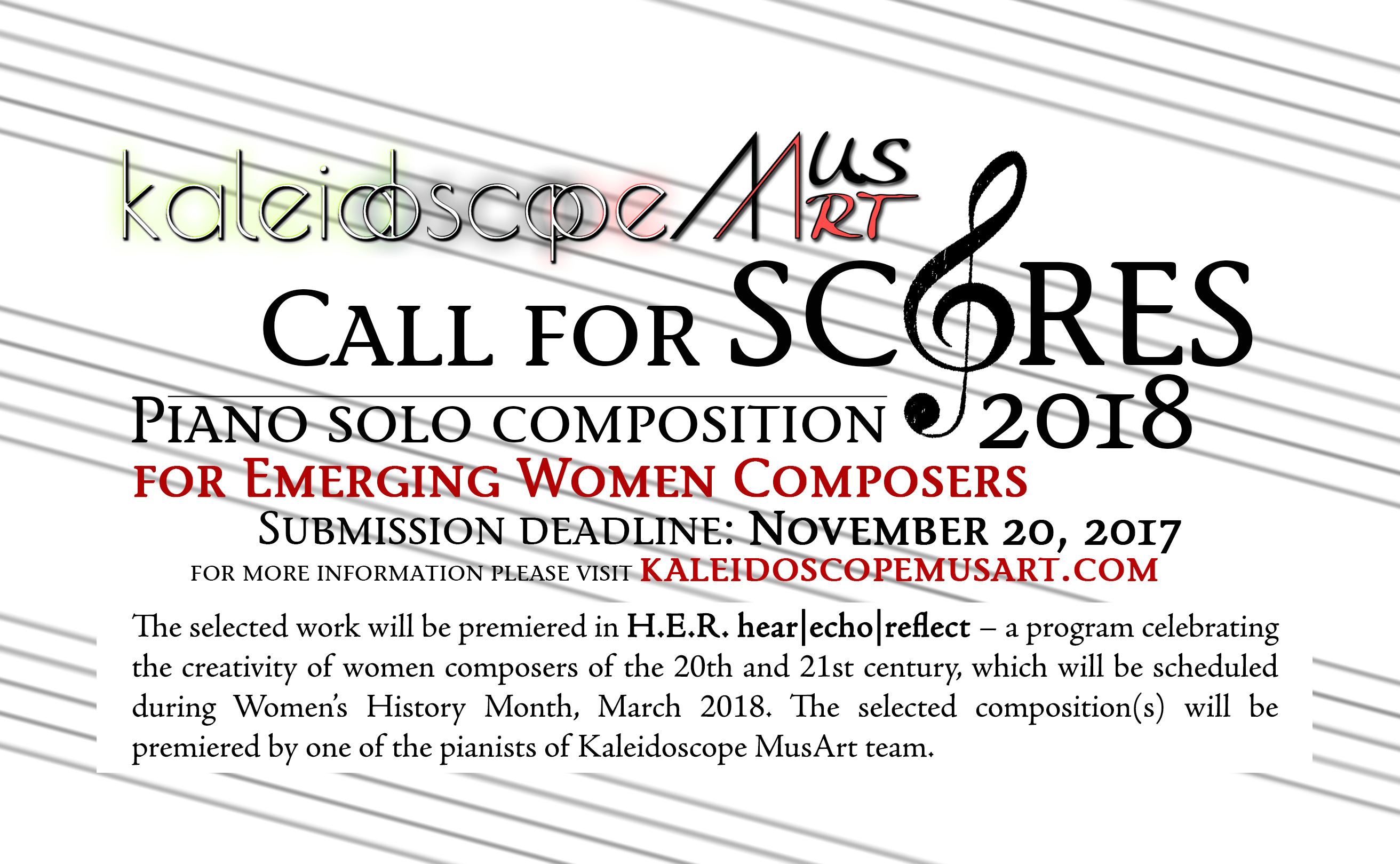 Call for Scores | Piano Solo - Kaleidoscope MusArt